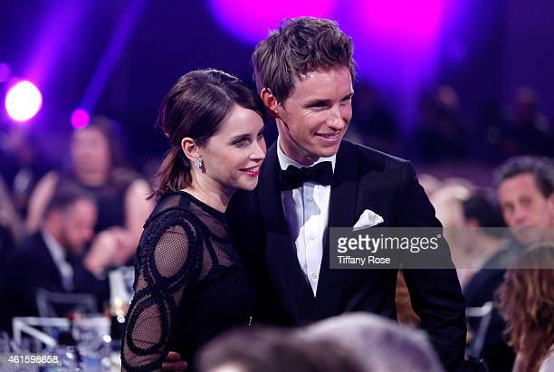 Actors Felicity Jones and Eddie Redmayne attend the 20th annual Critics' Choice Movie Awards at the Hollywood Palladium on January 15 2015 in Los...