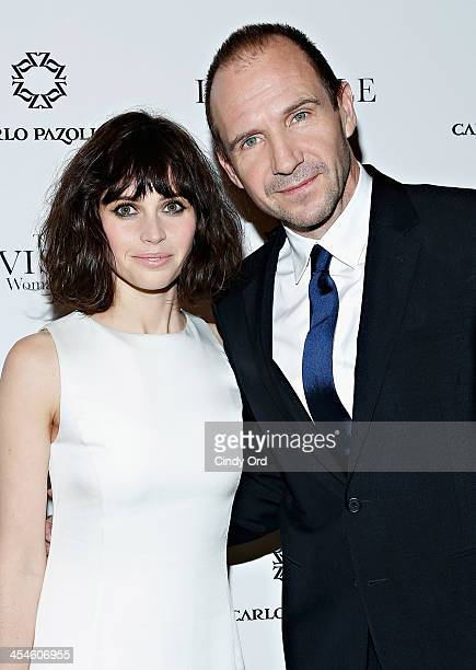 Actors Felicity Jones and Ralph Fiennes attend 'The Invisible Woman' New York Premiere at Museum of Modern Art on December 9 2013 in New York City