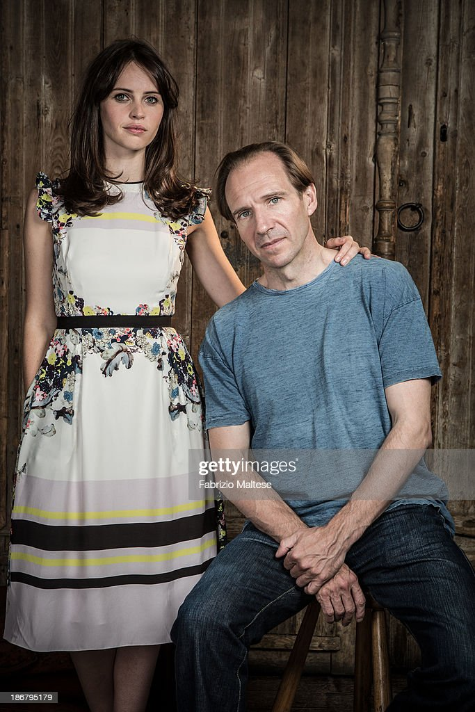 Actors Felicity Jones, Ralph Fiennes are photographed for The Hollywood Reporter during the 38th Toronto International Film Festival on September 9, 2013 in Toronto, Ontario.