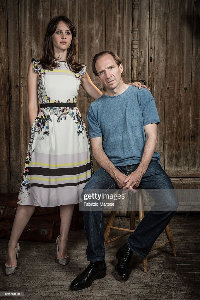 Actors <a gi-track='captionPersonalityLinkClicked' href=/galleries/search?phrase=Felicity+Jones&family=editorial&specificpeople=5128418 ng-click='$event.stopPropagation()'>Felicity Jones</a>, Ralph Fiennes are photographed for The Hollywood Reporter during the 38th Toronto International Film Festival on September 9, 2013 in Toronto, Ontario.
