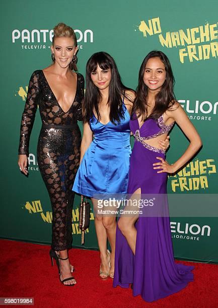 Actors Fernanda Castillo Martha Higareda and Karen Furlong attend the premiere of Pantelion Films' 'No Manches Frida' at Regal LA Live Stadium 14 on...