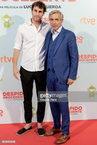Actors Fernando Guallar and actor Imanol Arias attend the 'Despido procedente' photocall at Callao cinema on June 29 2017 in Madrid Spain