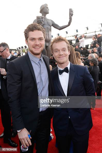 Actors Finn Jones and Alfie Allen attend The 22nd Annual Screen Actors Guild Awards at The Shrine Auditorium on January 30 2016 in Los Angeles...