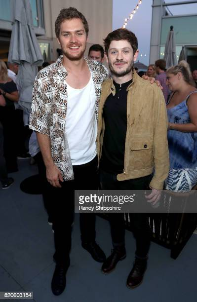 Actors Finn Jones and Iwan Rheon attend the Entertainment Weekly and Marvel After Dark event at the EW Studio during ComicCon at Hard Rock Hotel San...