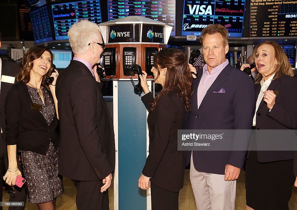 Actors Finola Hughes, Tony Geary, Kelly Monaco, Kin Shriner and Genie Francis of ABCÕs soap opera General Hospital ring the opening bell at the New York Stock Exchange on April 1, 2013 in New York City.