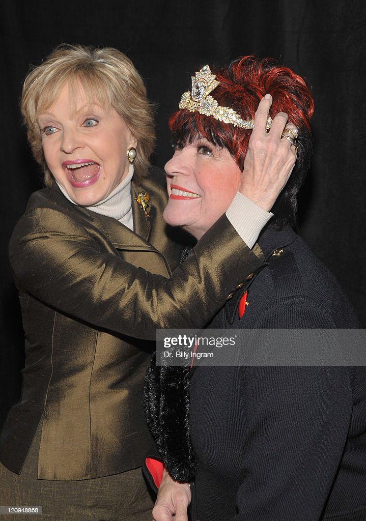 Actors Florence Henderson and Jo Anne Worley attend 'The First 80 Years Are The Hardest' an Evening With Carol Channing at The Magic Castle on March...