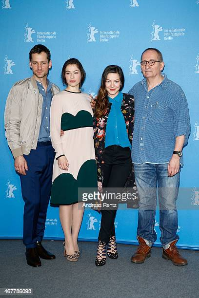Actors Florian Stetter Henriette Confurius Hannah Herzsprung and director Dominik Graf attend the 'Beloved Sisters' photocall during 64th Berlinale...