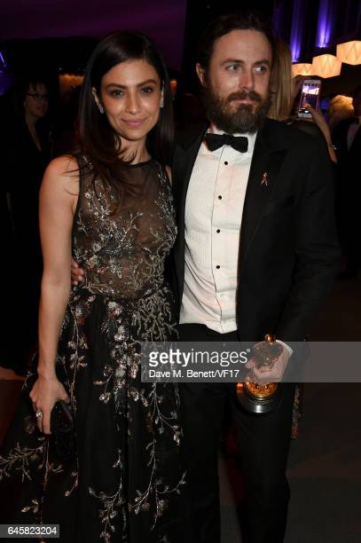 Actors Floriana Lima and Casey Affleck attend the 2017 Vanity Fair Oscar Party hosted by Graydon Carter at Wallis Annenberg Center for the Performing...