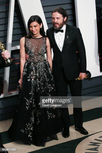 Actors Floriana Lima and Casey Affleck attend the 2017 Vanity Fair Oscar Party hosted by Graydon Carter at the Wallis Annenberg Center for the...