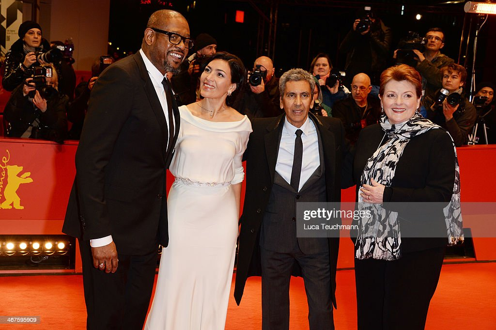 Actors Forest Whitaker, Dolores Heredia, director Rachid Bouchareb and actress Brenda Blethyn attend the 'Two Men in Town' (La voie de l'ennemi) premiere during 64th Berlinale International Film Festival at Berlinale Palast on February 7, 2014 in Berlin, Germany.