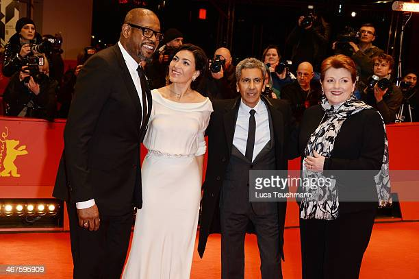 Actors Forest Whitaker Dolores Heredia director Rachid Bouchareb and actress Brenda Blethyn attend the 'Two Men in Town' premiere during 64th...