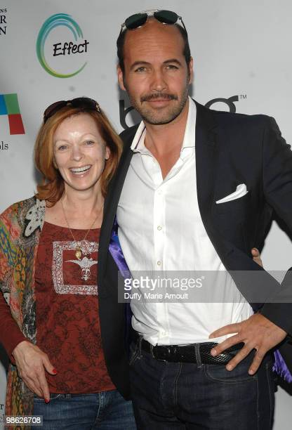 Actors Frances Fisher and Billy Zane attend Global Home Tree event celebrating the 40th Anniversary of Earth Day at JW Marriott Los Angeles at LA...