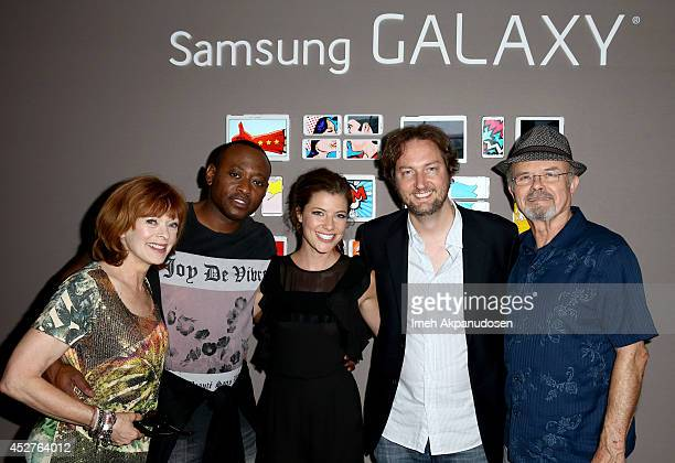 Actors Frances Fisher Omar Epps Devin Kelley producer Aaron Zelman and actor Kurtwood Smith attend the Samsung Galaxy VIP Lounge at ComicCon...