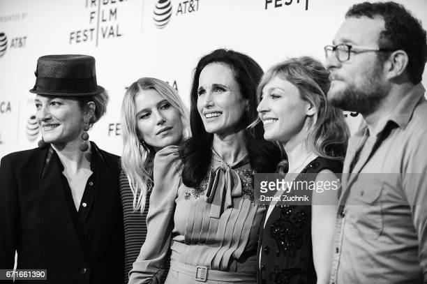 Actors Francesca Faridany Dree Hemingway Andie MacDowell Juliet Rylance and James Adomian attend the 'Love After Love' premiere during the 2017...