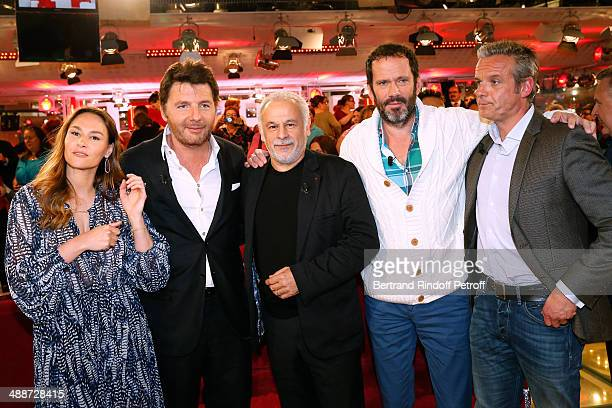 Actors Francis Perrin who present the TV serie 'Mongeville' Vanessa Demouy and her husband Philippe Lellouche Christian Vadim and David Brecourt...