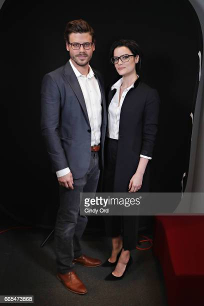 Actors Francois Arnaud and Jaimie Alexander attend New York Moves Power Women Forum 2017 at SUNY Global Center on April 6 2017 in New York City