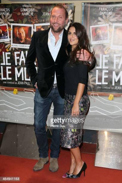 Actors Francois Damiens and Geraldine Nakache attend the premiere of 'Je fais le mort' at UGC Cine Cite des Halles on December 10 2013 in Paris France
