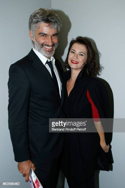 Actors Francois Vincentelli and his companion Alice Dufour attend the 25th 'Gala de l'Espoir' at Theatre des ChampsElysees on October 17 2017 in...