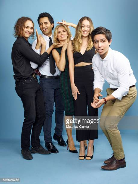 Actors Frank Dillane Cliff Curtis Kim Dickens Alycia DebnamCarey and Lorenzo James Henrie from 'Fear of the Walking Dead' are photographed for...