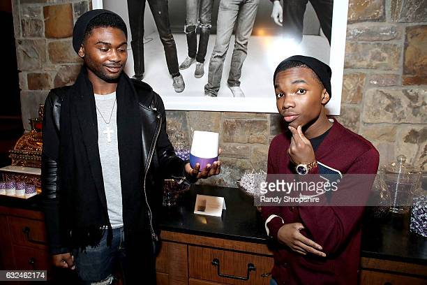 Actors Frankie Smith and Joshua Williams attend Google Home x Sundance x Wanderluxxe celebrate diversity at the home of Barry Amy Baker on January 22...
