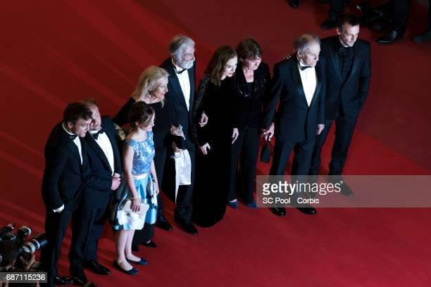 Actors Franz Harduin Toby Jones Fantine Harduin director Michael Haneke and his wife Susi Haneke actors Isabelle Huppert JeanLouis Trintignant and...