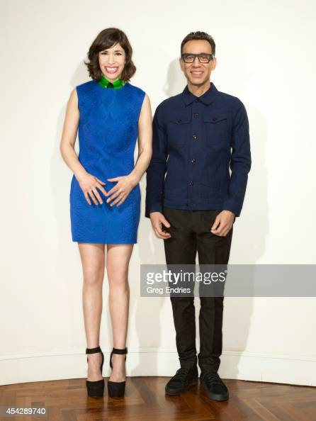 Actors Fred Armisen and Carrie Brownstein are photographed for Emmy Magazine on February 27 in New York City