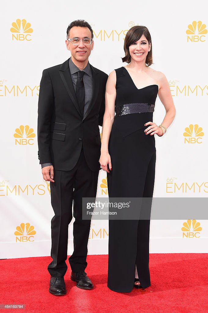 Actors Fred Armisen and Carrie Brownstein attend the 66th Annual Primetime Emmy Awards held at Nokia Theatre LA Live on August 25 2014 in Los Angeles...