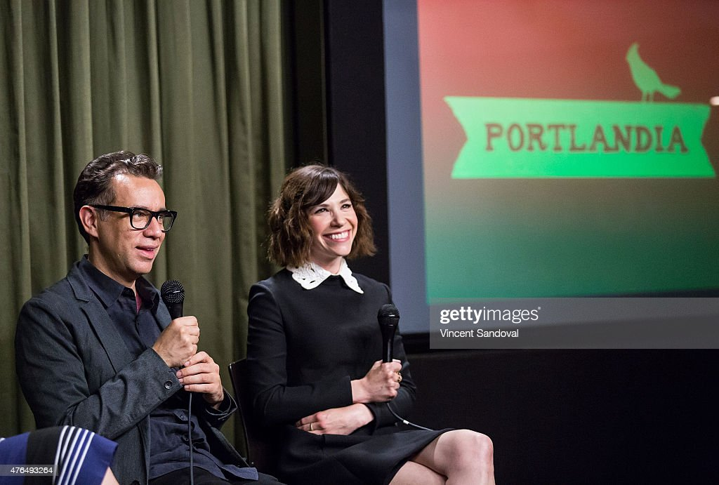 Actors Fred Armisen and Carrie Brownstein attend The SAG Foundation hosts 'Portlandia' Los Angeles screening and QA at SAG Foundation Actors Center...