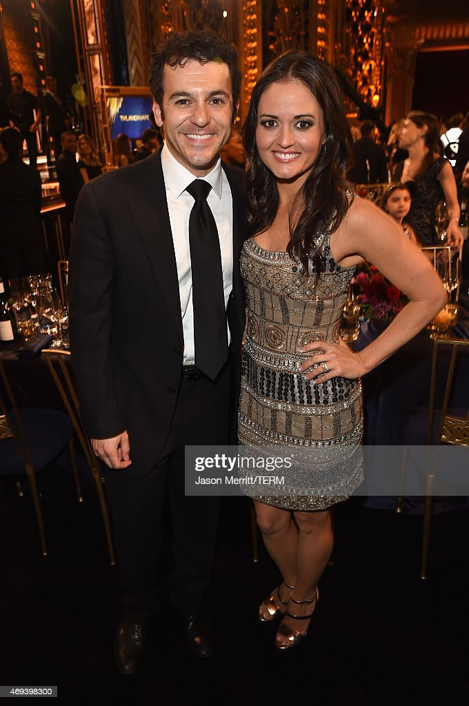 Actors Fred Savage and Danica McKellar attend the 2015 TV Land Awards at Saban Theatre on April 11 2015 in Beverly Hills California
