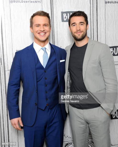 Actors Freddie Stroma and Josh Bowman attend Build Series to discuss 'Time After Time' at Build Studio on March 3 2017 in New York City