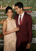 Actors Freida Pinto and Dev Patel arrive at the Wallis Annenberg Center For The Performing Arts Inaugural Gala at Wallis Annenberg Center for the...