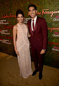 Actors Freida Pinto and Dev Patel wearing Ferragamo arrive at the Wallis Annenberg Center for the Performing Arts Inaugural Gala presented by...