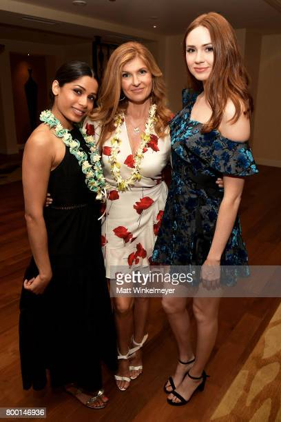 Actors Freida Pinto Connie Britton and Karen Gillan attend day 2 of the 2017 Maui Film Festival at Wailea on June 22 2017 in Wailea Hawaii