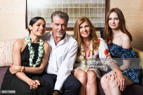 Actors Freida Pinto Pierce Brosnan Connie Britton and Karen Gillan pose for a portrait during day two of the 2017 Maui Film Festival at Wailea on...