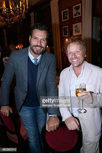 Actors from 'Comedie Francaise' Laurent Lafitte and Laurent Stocker attend the Fouquet's Paris Restaurant presents its Menu 'Twisted' by the Chef...