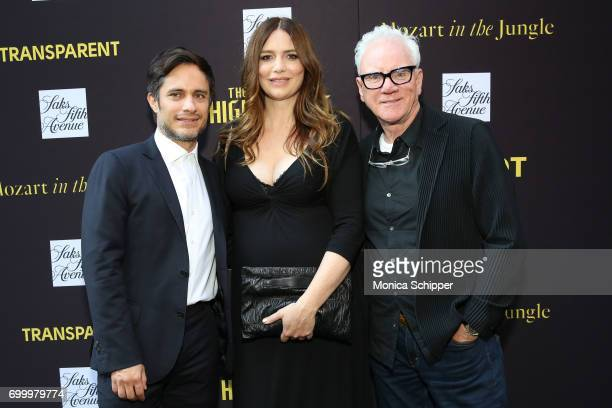 Actors from 'Mozart in the Jungle' Gael Garcia Bernal Saffron Burrows and Malcom McDowell attend as SAKS FIFTH AVENUE celebrates potential EMMY...