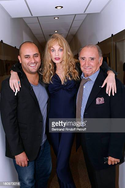 Actors from short program 'Y'a pas d'age' produced by Dany Boon on France 2 TV chanel Jerome Commandeur Arielle Dombasle and Claude Brasseur attend...