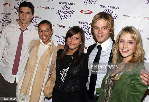 Actors from The Soap Opera 'As The World Turns' Jake Silbermann Elena Goode Van Hansis Alexandra Chando and Marnie Schulenburg at The Opening Night...