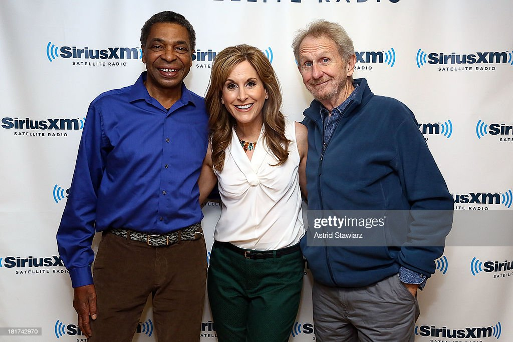 Actors from the Walt Disney's 1989 animated movie 'The Little Mermaid' Samuel E. Wright, who provided the voice of Sebastian the crab, Jodi Benson, who provided the voice of Ariel and Rene Auberjonois, who provided the voice of Louis, the chef, visit the SiriusXM Studios on September 24, 2013 in New York City.