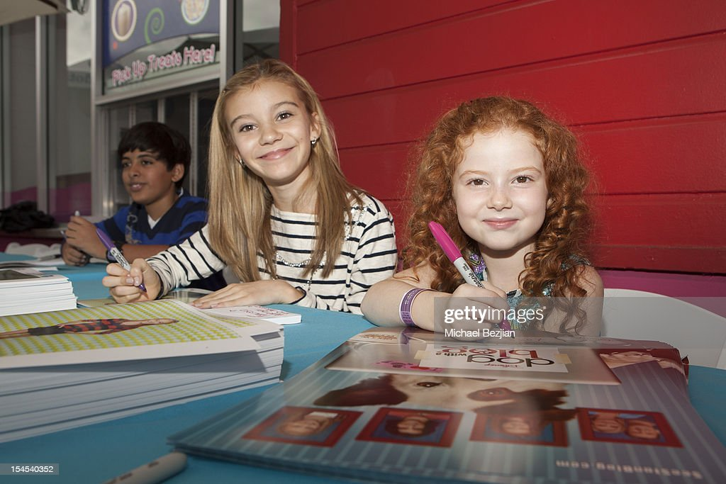 Actors G. Hannelius and Francesca Capaldi attend Mattel Party On The Pier Benefiting Mattel Children's Hospital UCLA - Inside at Pacific Park – Santa Monica Pier on October 21, 2012 in Santa Monica, California.