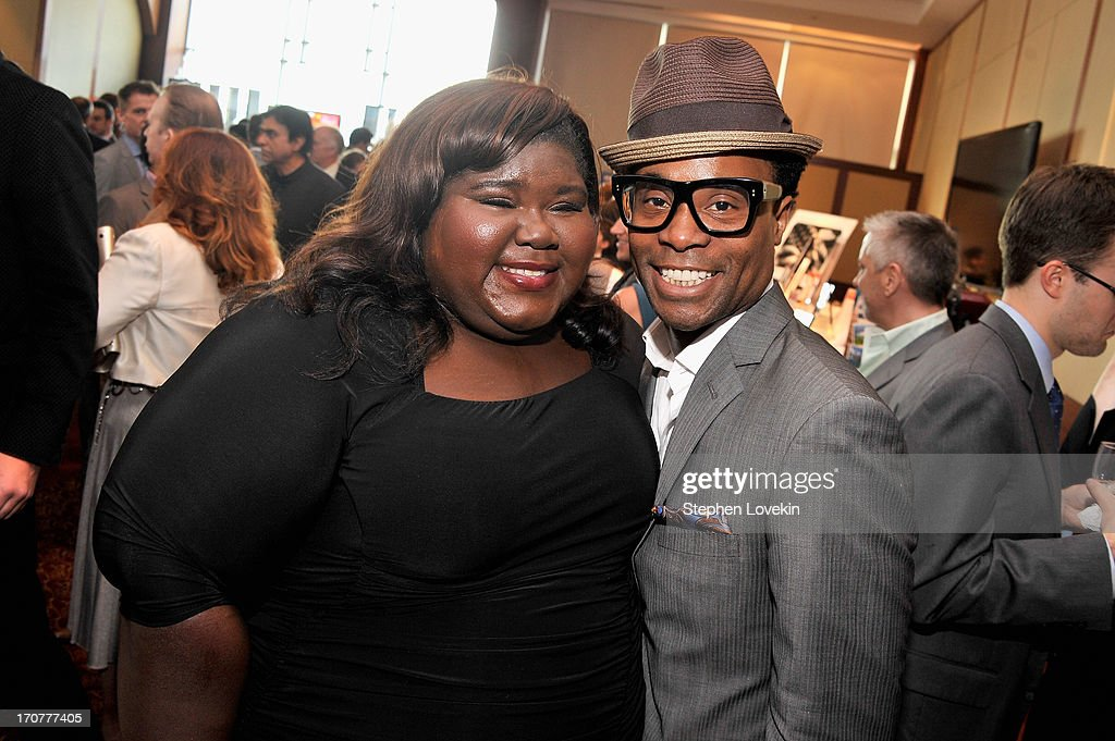 Actors <a gi-track='captionPersonalityLinkClicked' href=/galleries/search?phrase=Gabourey+Sidibe&family=editorial&specificpeople=5667783 ng-click='$event.stopPropagation()'>Gabourey Sidibe</a> (L) <a gi-track='captionPersonalityLinkClicked' href=/galleries/search?phrase=Billy+Porter&family=editorial&specificpeople=787592 ng-click='$event.stopPropagation()'>Billy Porter</a> attend The Trevor Project's 2013 'TrevorLIVE' Event Honoring Cindy Hensley McCain at Chelsea Piers on June 17, 2013 in New York City.