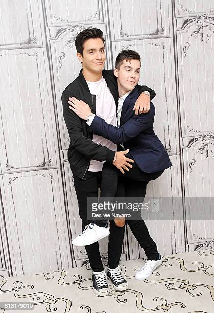 Actors Gabriel Conte and Jeremy Shada attend The Build Series to discuss 'Mr Student Body President' at AOL HQ on October 7 2016 in New York City