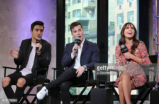 Actors Gabriel Conte Jeremy Shada and Arden Rose attend The Build Series Presents Arden Rose Gabriel Conte And Jeremy Shada Discussing 'Mr Student...