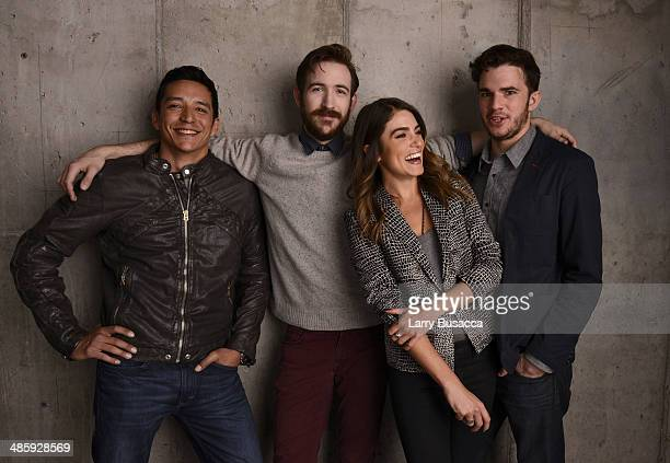 Actors Gabriel Luna Brian McElhaney Nikki Reed and Nick Kocher from 'Intramural' pose for the Tribeca Film Festival Getty Images Studio on April 21...