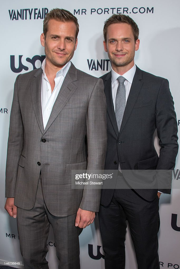 Actors Gabriel Macht and Patrick J Adams attend USA Networks a 'Suits' Story Fashion Show on June 12 2012 in New York United States