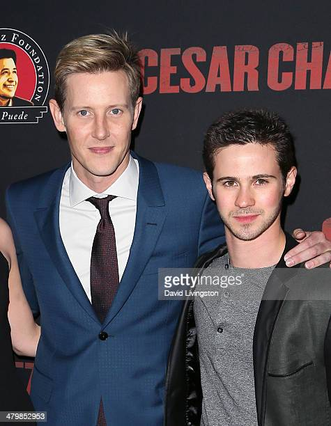 Actors Gabriel Mann and Connor Paolo attend the premiere of Pantelion Films and Participant Media's 'Cesar Chavez' at TCL Chinese Theatre on March 20...