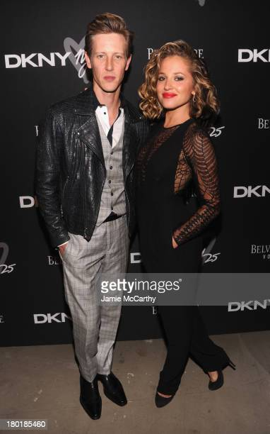 Actors Gabriel Mann and Margarita Levieva attend the #DKNY25 Birthday Bash on September 9 2013 in New York City