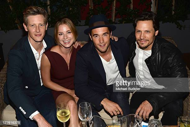 Actors Gabriel Mann Emily VanCamp Joshua Bowman and Nick Wechsler attend the NYLON September Issue Party hosted by NYLON ASOS and Emily VanCamp at...