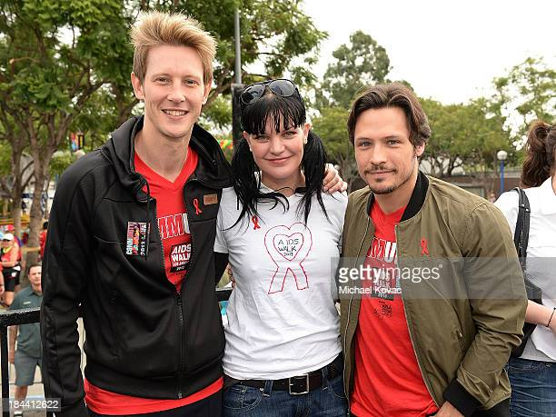 Actors Gabriel Mann Pauley Perette and Nick Wechsler attend the 29th Annual AIDS Walk Los Angeles on October 13 2013 in West Hollywood California