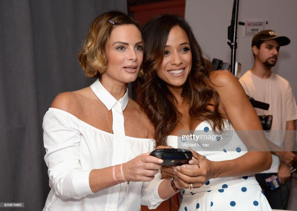 Actors Gabrielle Anwar and Dania Ramirez from the television series 'Once Upon A Time' stopped by Nintendo at the TV Insider Lounge to check out Nintendo Switch during Comic-Con International at Hard Rock Hotel San Diego on July 22, 2017 in San Diego, California.